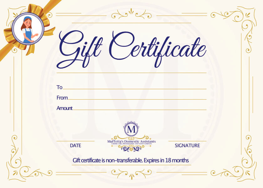 Household Services Gift Certificate
